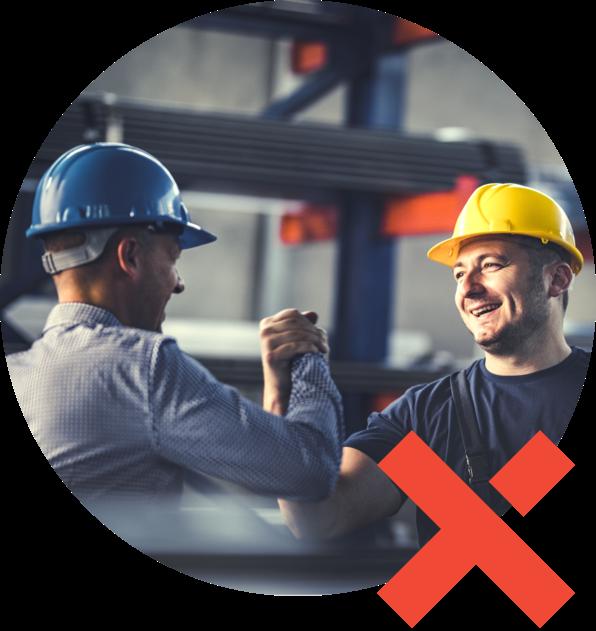 coopération d'employés en usine